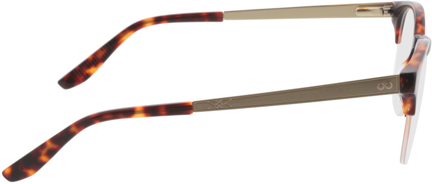 Picture of glasses model Paolo-braun-meliert/gold in angle 90