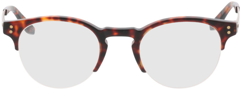 Picture of glasses model Paolo-braun-meliert/gold in angle 0
