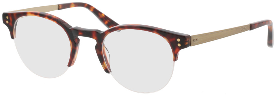 Picture of glasses model Paolo-braun-meliert/gold in angle 330