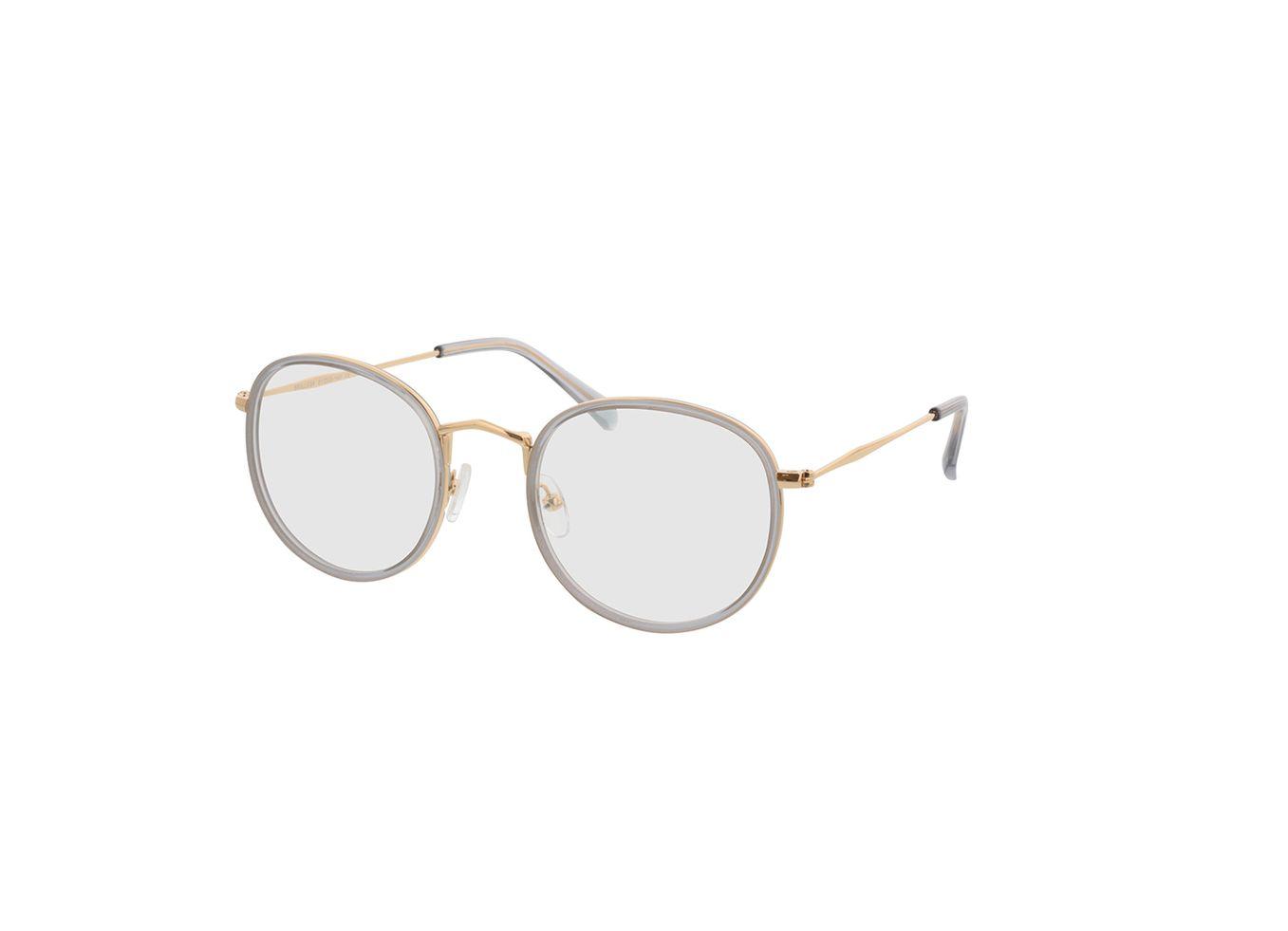4743-singlevision-0000 Gilbritt-grau/gold Gleitsichtbrille, Vollrand, Rund Brille24 Collection