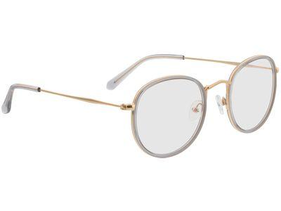 Brille Gilbritt-grau/gold