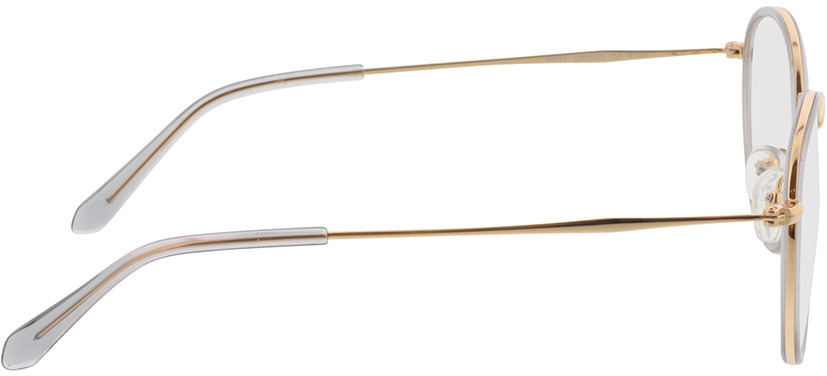 Picture of glasses model Gilbritt Grijs/Goud in angle 90