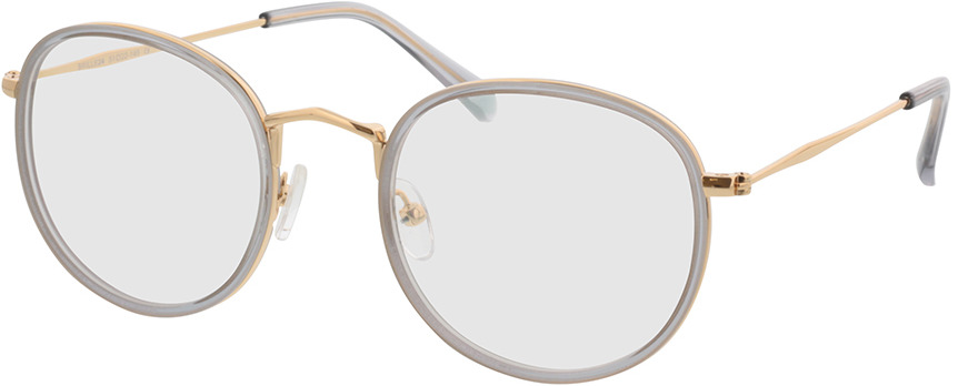Picture of glasses model Gilbritt Grijs/Goud in angle 330