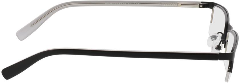 Picture of glasses model Mikkel zwart in angle 90
