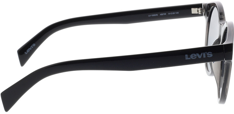 Picture of glasses model Levi's LV 1000/S KB7 51-20 in angle 90