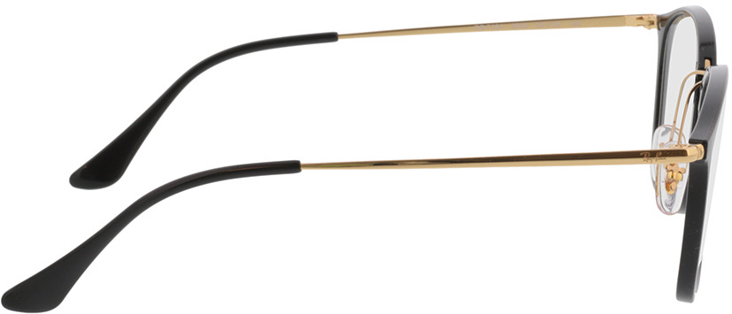 Picture of glasses model Ray-Ban RX7164 2000 52-20 in angle 90