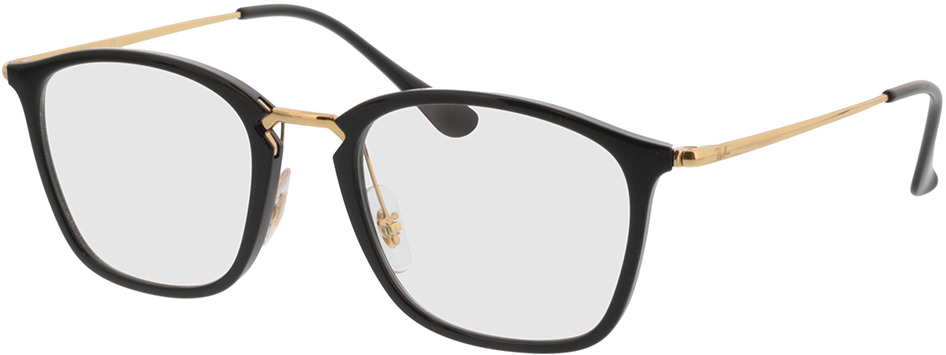 Picture of glasses model Ray-Ban RX7164 2000 52-20 in angle 330