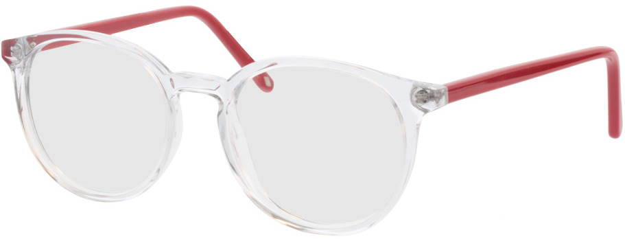 Picture of glasses model Ovis-transparent/rot in angle 330