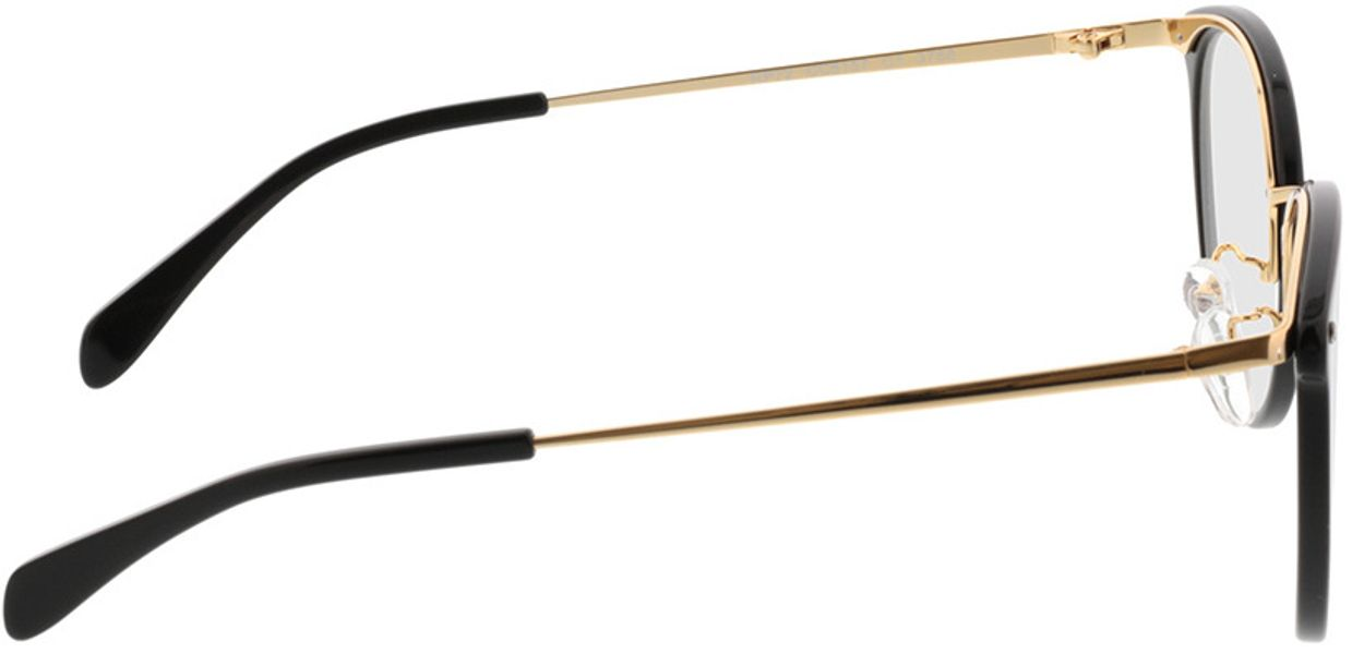 Picture of glasses model Charlotte-black-gold in angle 90