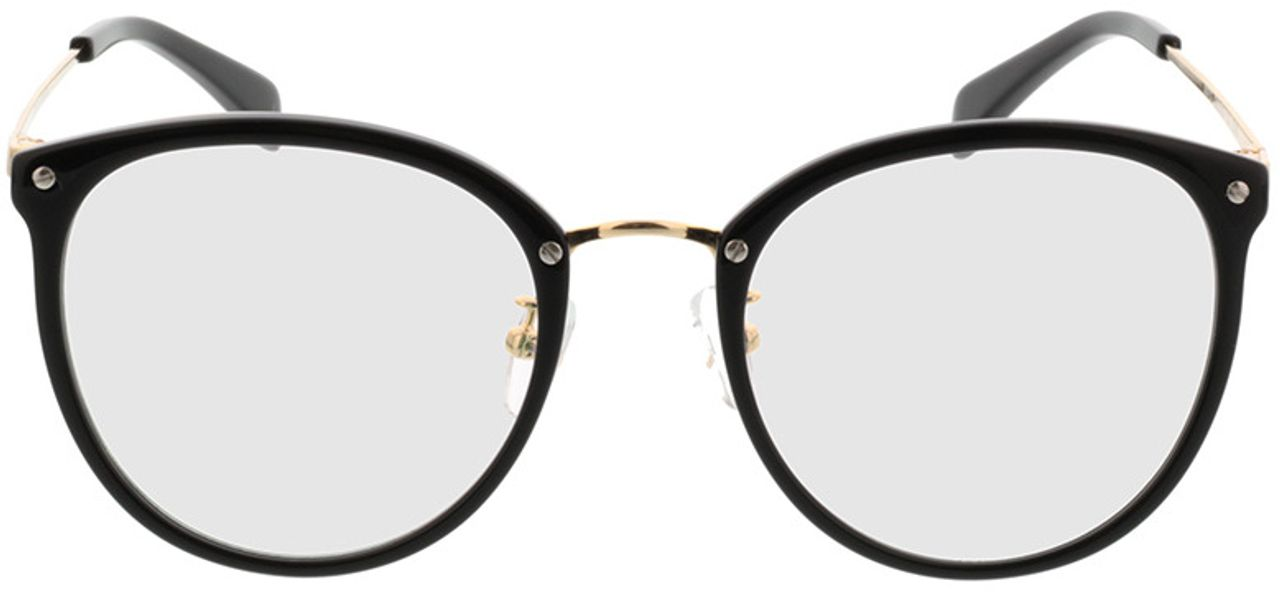 Picture of glasses model Charlotte-black-gold in angle 0