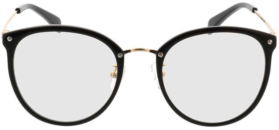 Picture of glasses model Charlotte-schwarz/gold in angle 0