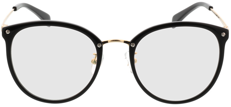 Picture of glasses model Charlotte zwart/Goud in angle 0