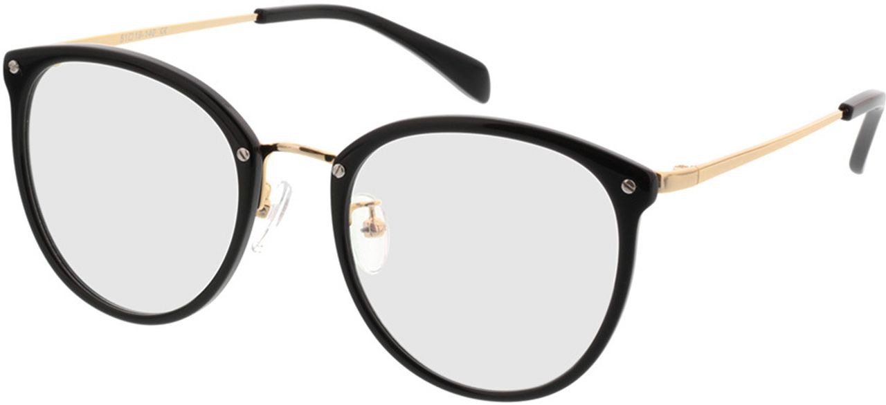 Picture of glasses model Charlotte-black-gold in angle 330