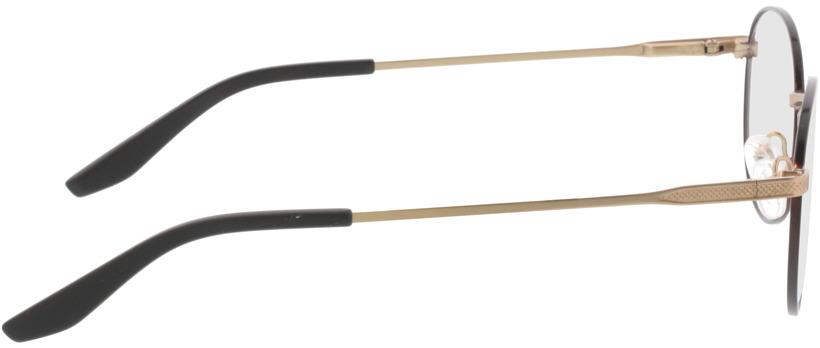 Picture of glasses model Orelia-schwarz matt gold in angle 90