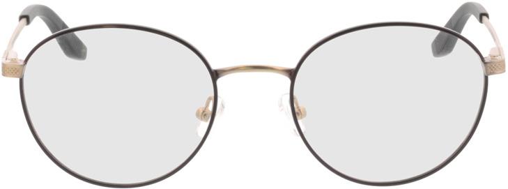 Picture of glasses model Orelia-schwarz matt gold in angle 0