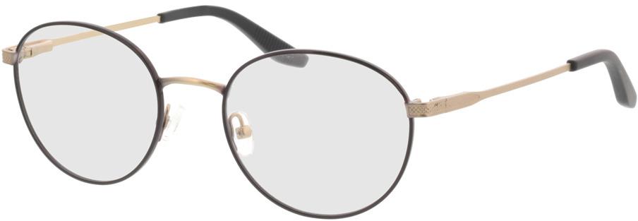 Picture of glasses model Orelia-schwarz matt gold in angle 330