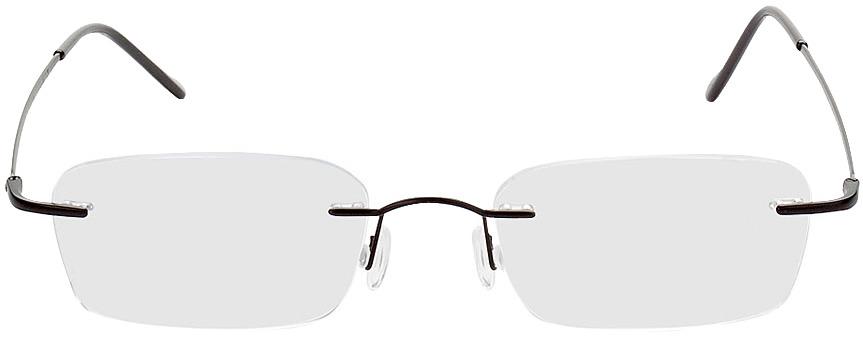Picture of glasses model Bendigo preto in angle 0