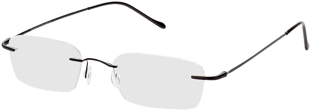 Picture of glasses model Bendigo preto in angle 330