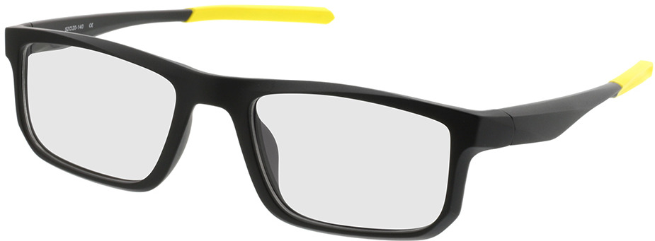 Picture of glasses model Baltimore-noir mat/jaune in angle 330