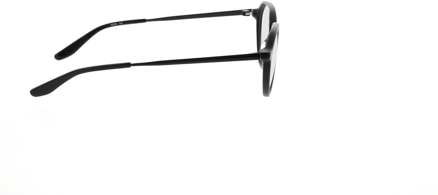 Picture of glasses model Gineva-matt schwarz in angle 90
