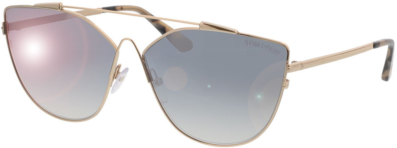 Picture of glasses model Tom Ford Jacquelyn FT0563 28C  in angle 330