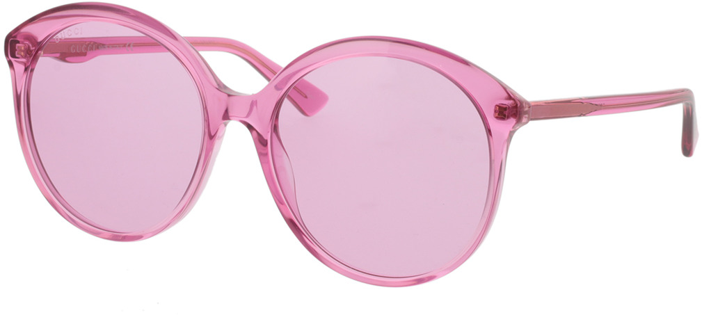 Picture of glasses model Gucci GG0257S-005 59-19 in angle 330