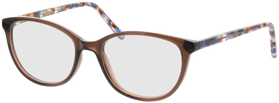 Picture of glasses model Dakota-braun-transparent in angle 330