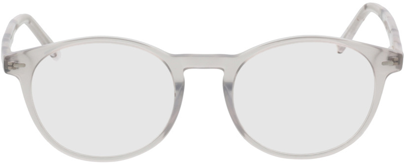 Picture of glasses model Burela Grijs/transparant in angle 0