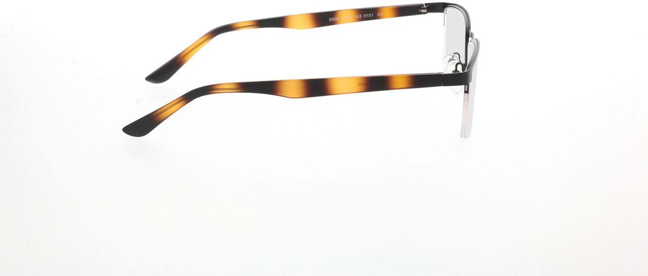 Picture of glasses model Naxos-matt schwarz/braun-meliert in angle 90