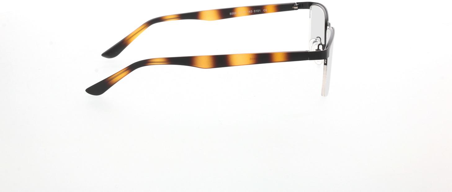 Picture of glasses model Naxos mat zwart/bruin-gevlekt in angle 90