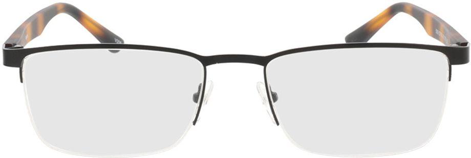 Picture of glasses model Naxos-matt schwarz/braun-meliert in angle 0