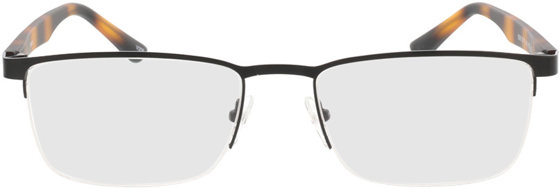 Picture of glasses model Naxos mat zwart/bruin-gevlekt in angle 0