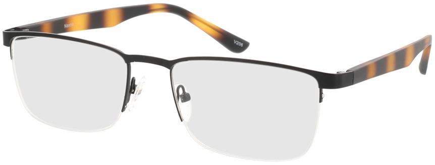 Picture of glasses model Naxos mat zwart/bruin-gevlekt in angle 330