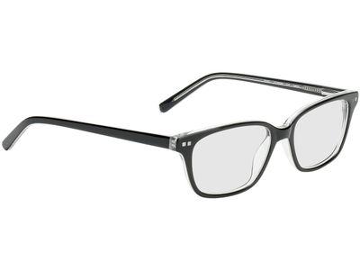 Brille Nottingham-schwarz-transparent