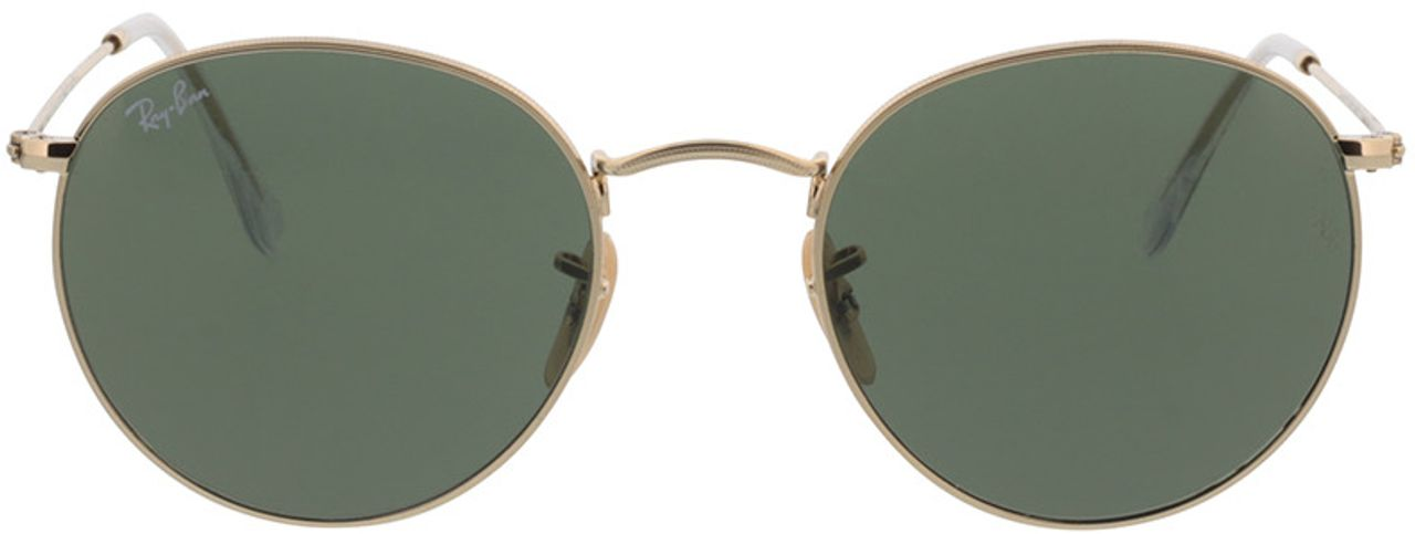 Picture of glasses model Ray-Ban Round Metal RB3447 001 53-21 in angle 0