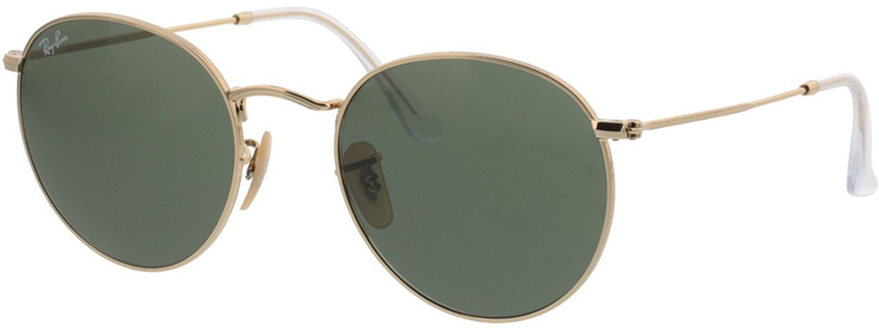 Picture of glasses model Ray-Ban Round Metal RB3447 001 53-21 in angle 330