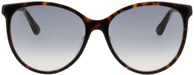 Picture of glasses model Gucci GG0377SK-002 57-16 in angle 0