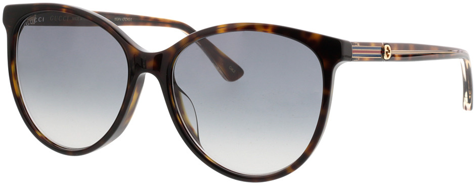 Picture of glasses model Gucci GG0377SK-002 57-16 in angle 330
