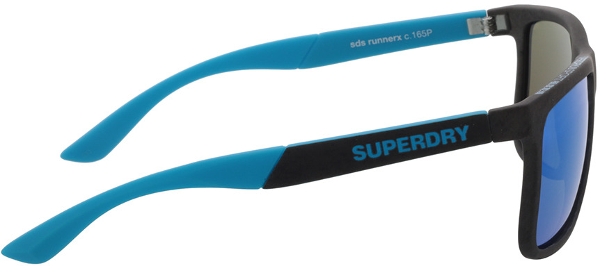 Picture of glasses model Superdry SDS Runnerx 165P grey/blue 56-19 in angle 90