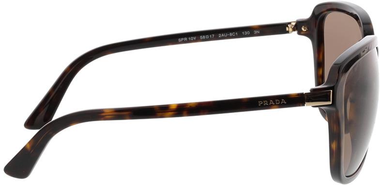 Picture of glasses model Prada PR 10VS 2AU8C1 58-17 in angle 90