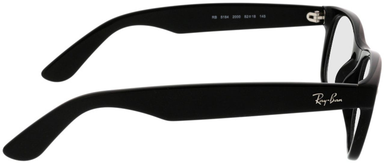 Picture of glasses model Ray-Ban New Wayfarer RX5184 2000 52-18 in angle 90