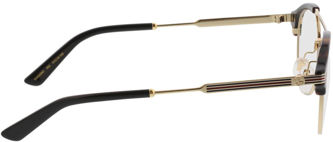 Picture of glasses model Gucci GG0289O-002 51-18 in angle 90