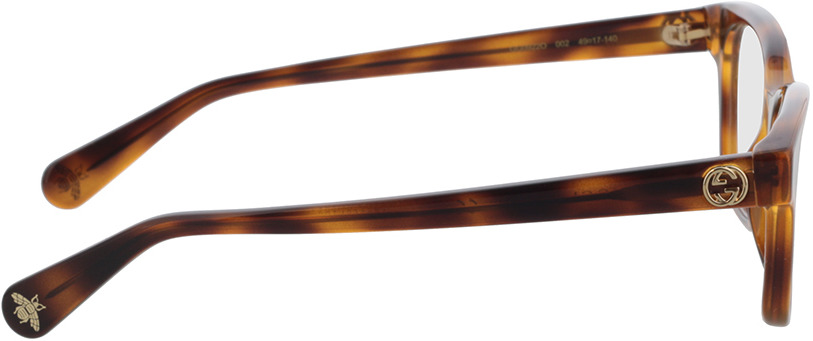 Picture of glasses model Gucci GG0922O-002 49-17 in angle 90