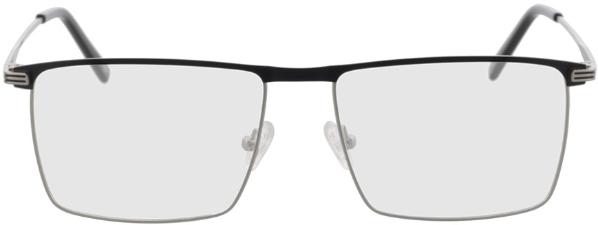 Picture of glasses model Peto-silber/schwarz in angle 0