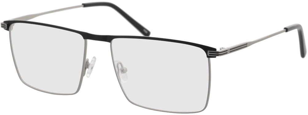Picture of glasses model Peto-silber/schwarz in angle 330