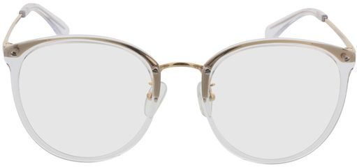 Picture of glasses model Charlotte-transparent-gold in angle 0