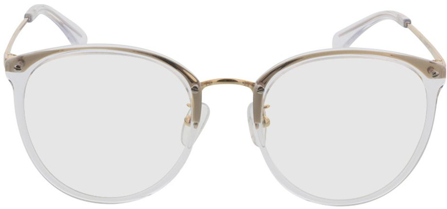 Picture of glasses model Charlotte-transparent/gold in angle 0