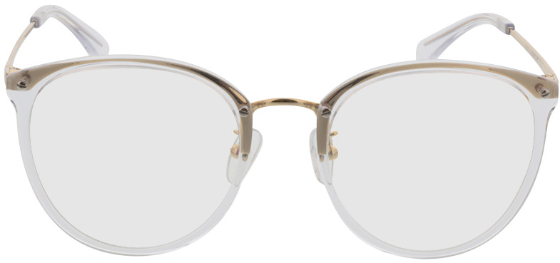Picture of glasses model Charlotte transparant/Goud in angle 0