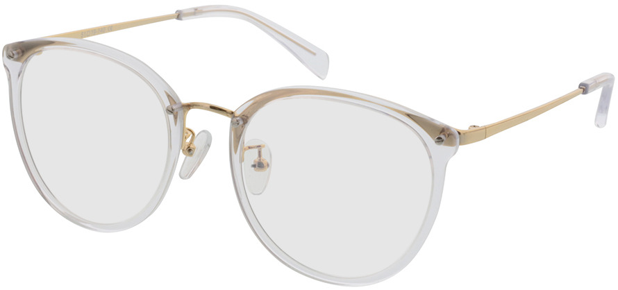 Picture of glasses model Charlotte transparant/Goud in angle 330