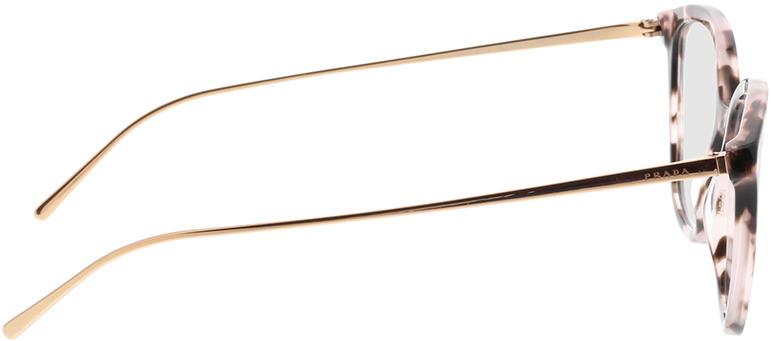 Picture of glasses model Prada PR 11VV ROJ1O1 53-17 in angle 90
